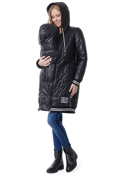 "Demi-season jacket 3in1 ""Norwich"": normal, for pregnant women, for baby wear; black colour"