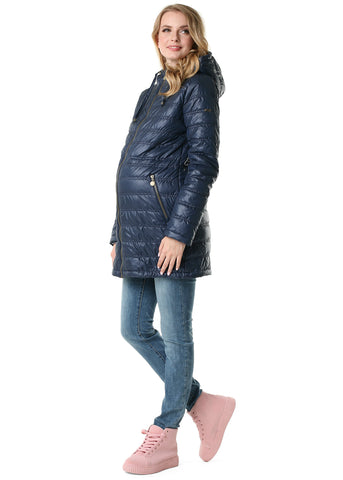 "Demi-season jacket 3 in 1 ""Mitchell"" for pregnant women and baby wear; color: blue"