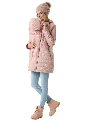 "Demi-season jacket 3in1 ""Mitchell"" for pregnant women and babywearing; color: powder"
