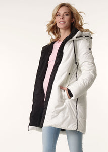 "Winter jacket 3in1 ""Seattle"" for pregnant women and baby wear; color: milky"