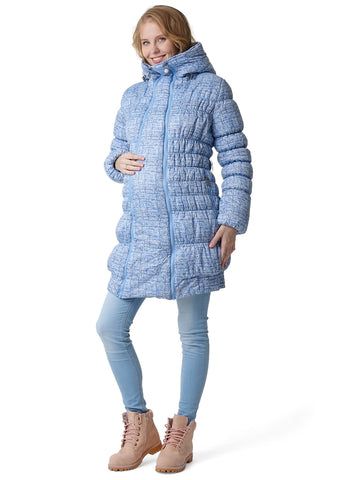 "Winter jacket 3 in 1 ""Iceland"" for pregnant women and baby wear; color: blue"