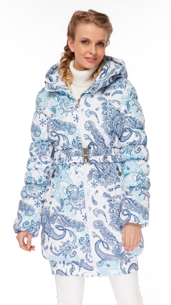 "Winter Jacket 2in1 ""Utah"" for pregnant women, normal; color: Paisley on white"