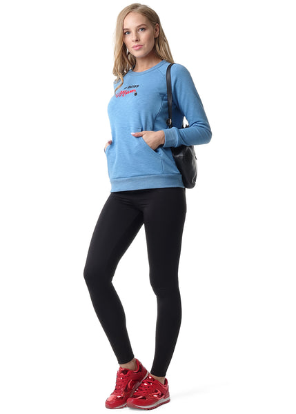 "Sweatshirt ""Roslyn"" for pregnant and lactating; blue color"