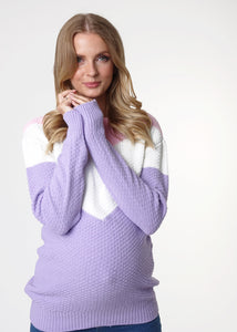 "Jumper ""Ivona"" for pregnant women; color: purple"