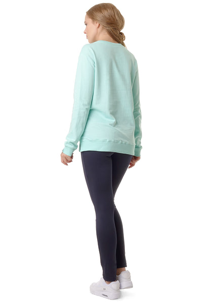 "Sweatshirt insulated ""Danita"" for pregnant and lactating; color: mentho"
