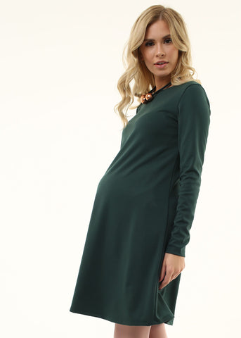 """Earlene"" Maternity dress; color: bottle"