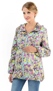 "Raincoat ""Peter"" orchid on turquoise for pregnant women"