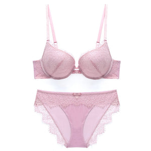 New 2019 Luxury Elegance Vs Bra And Panty Set Underwear Set Female Lace Brand Push Up Secret panties women Bra Set