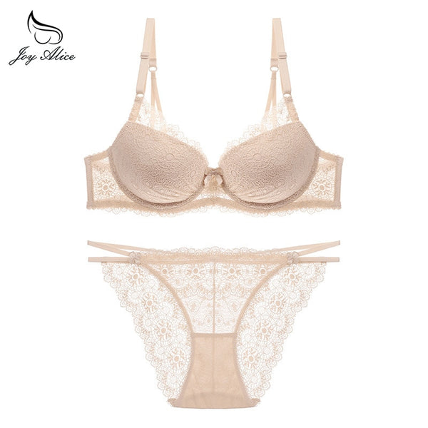 Hot Women lingerie set ultra thin bra set  Lace Underwear victoria Transparent Bralette set Women Bra Panties Set