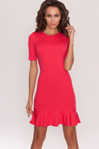 DSP-31-30 coral Dress with flounces
