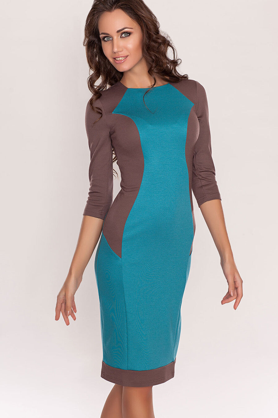 Dress DSP-168-14 hard case-turquoise/cocoa
