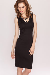 Dress DSP-53-4 sheath sleeveless black