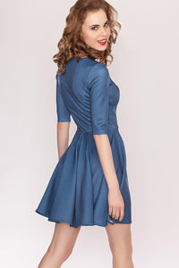 "Dress DSP-97-92 cocktail ""Denim"""