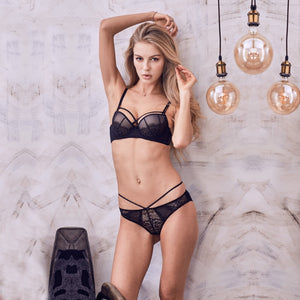 VS Brand 2019 new push up bra set burst high grade padding bra panties  embroidery female lingerie set lace underwear women