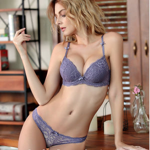 VS Brand 2019 Women Hot Seamless Bra Set 3/4 Cup adjustable Push up Vs Bra Lingerie Underwear Sets For Women 70 85A B C D Cup