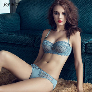 Ultrathin underwear lace transparent sexy bra set