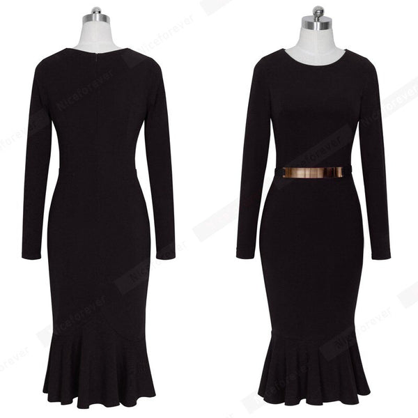 Autumn Winter Party Bodycon Dress Long Sleeve Decoration Sequined Women Elegant Prom Midi Dress Black Purple Color B242