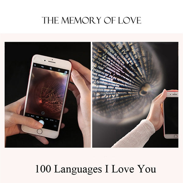 Friendship Forever Jewelry 100 Language i Love You Projection Necklace