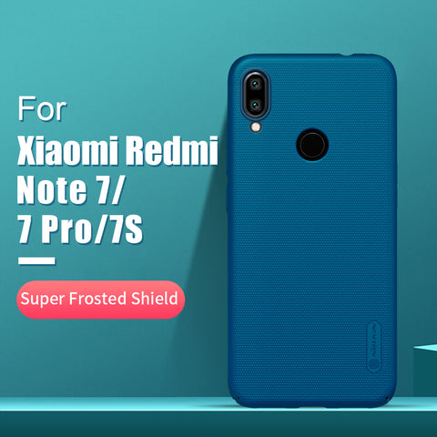 Redmi note 7 case 6.3 NILLKIN Frosted PC Matte hard back cover Gift Phone Holder