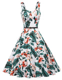 Homecoming 1950s Retro Vintage Sleeveless V-Neck Flared A-Line Dress BP416