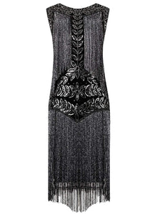 Flapper Dresses 1920s Gatsby Full Fringed Vintage Cocktail Dress