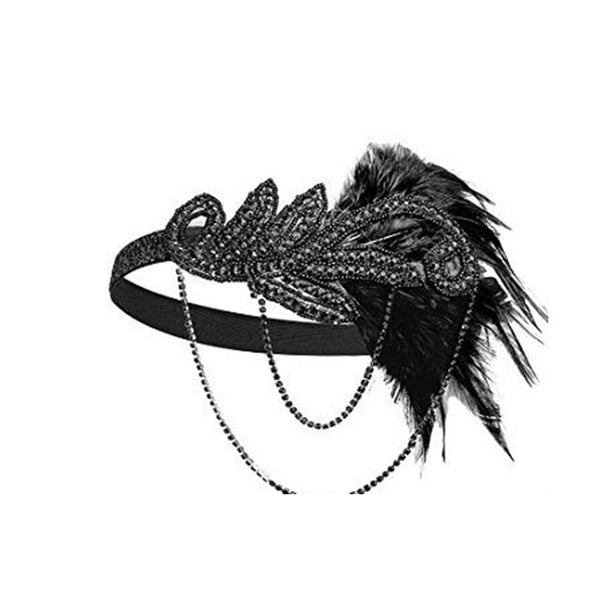 Women's cosplay headbands necklace gloves earring set flapper costume 1920S Great GATSBY Halloween Accessories