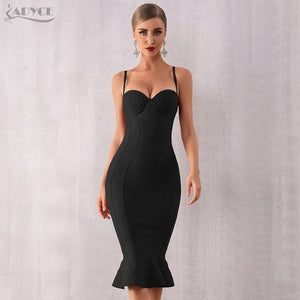 Sleeveless Mermaid Club Dress Midi Celebrity Party Dress