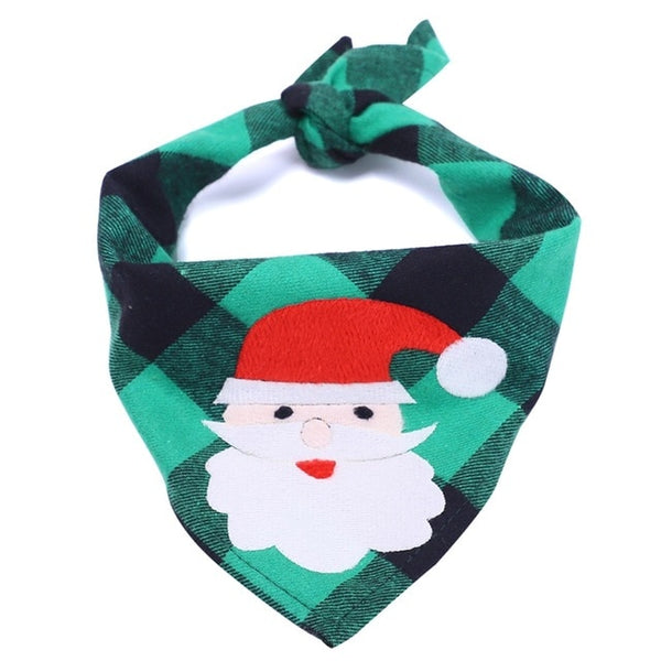 Christmas Dog Pet Bandana Elk Printed Pet Washable Decoration Scarf Handkerchiefs Bibs Pet Accessories