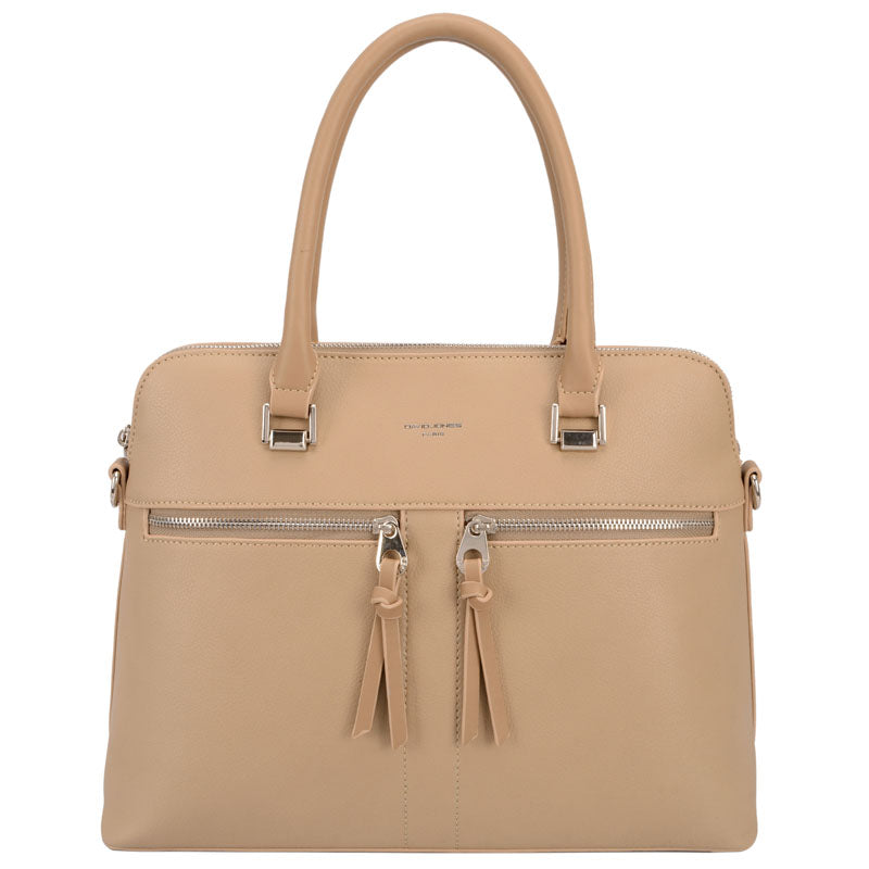 David Jones Beige Grab Bag Crossbody Shoulder Bag