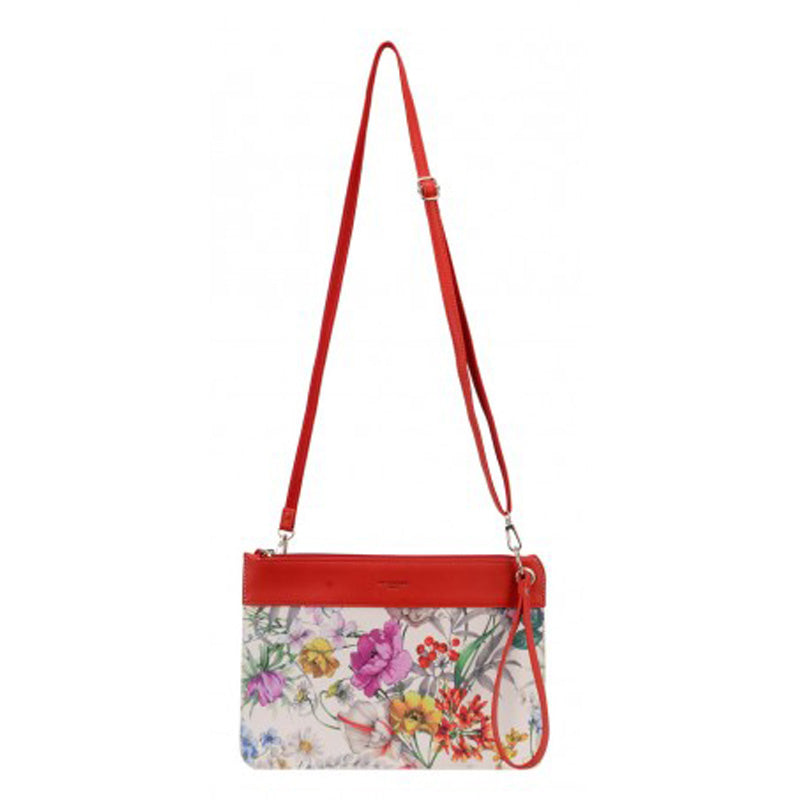 David Jones Red Multi Crossbody Shoulder Bag Wrist Bag