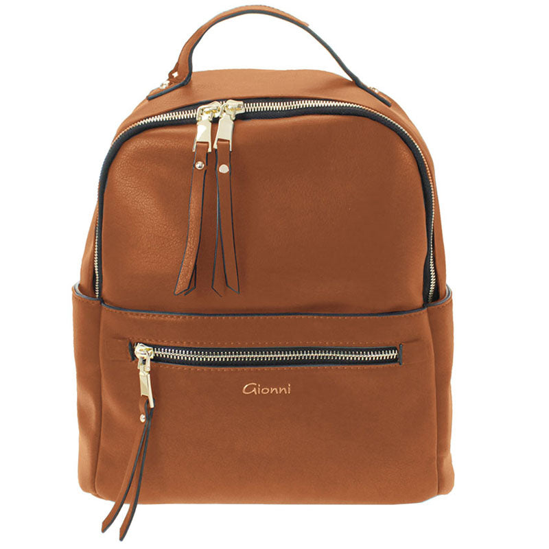 Gionni Tan Backpack Grab Bag