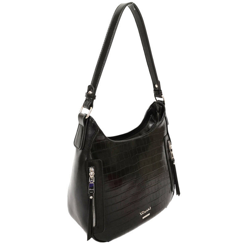 Gionni Black Grab Bag 3/4 Shoulder Bag Hobo Bag