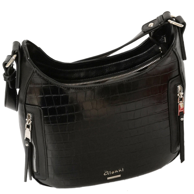 Gionni Black Grab Bag Shoulder Bag Hobo Bag