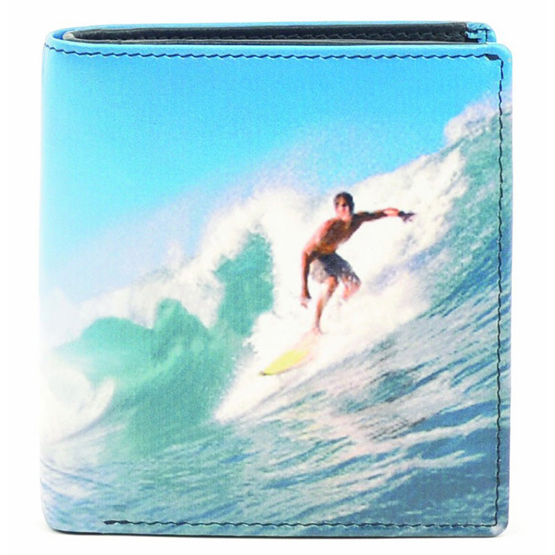 Golunski Leather Surfing Coin Section Credit Card Notecase