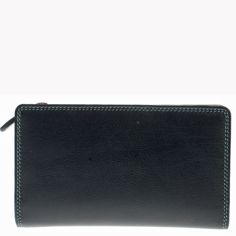 Golunski Black Leather Front Flap Purse