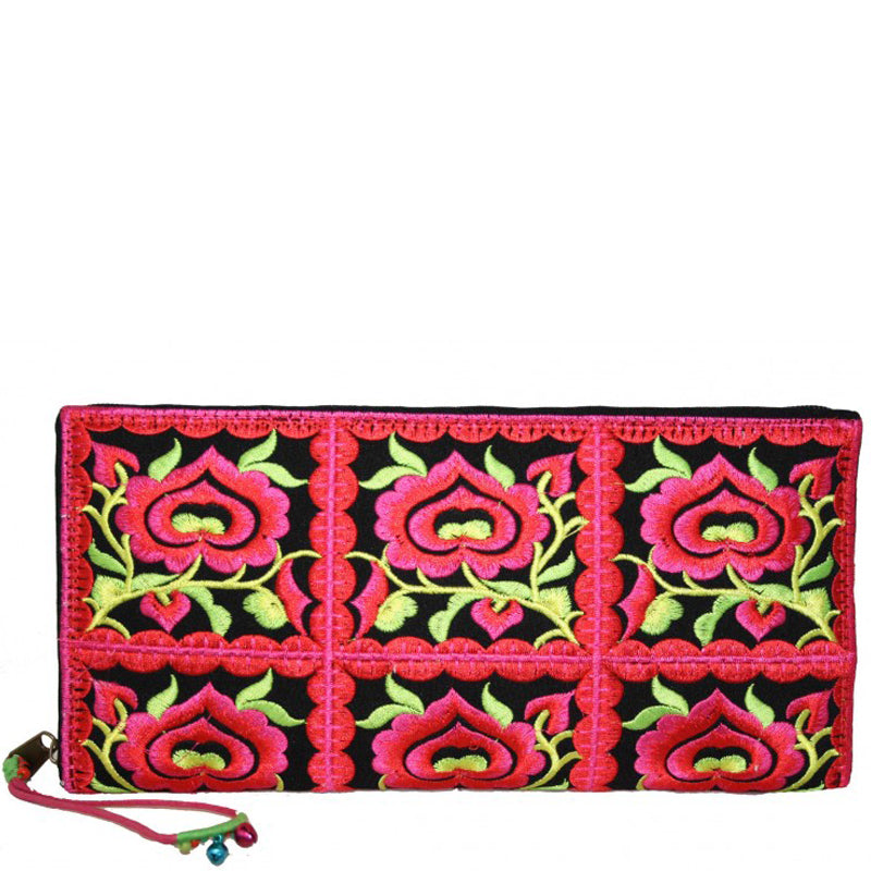Lua Red Green Large Purse clutch Bag Wrist Bag