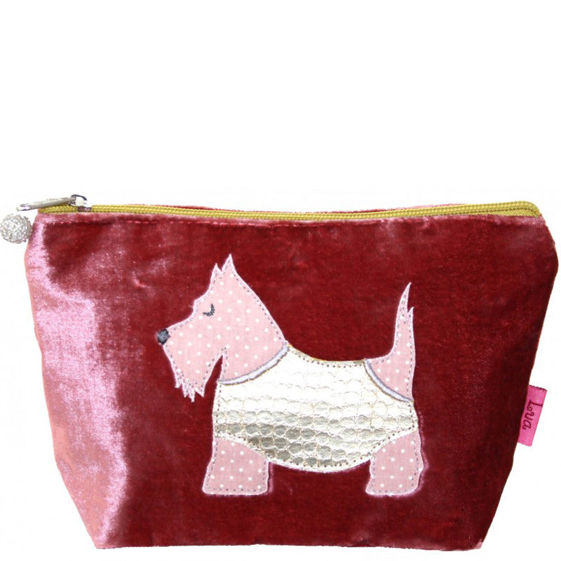 Lua Rose Velvet Make Up Bag Toiletry Bag