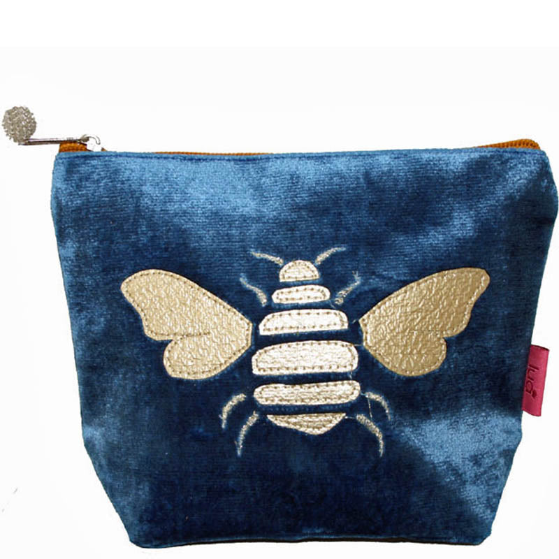 Lua Blue Velvet Make Up Bag Toiletry Bag