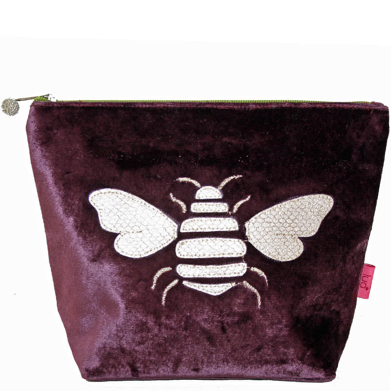 Lua Fig Velvet Make Up Bag Toiletry Bag