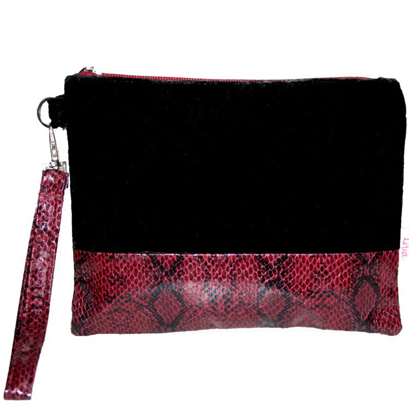 Lua Black Evening Bag Wrist Bag Make Up Bag
