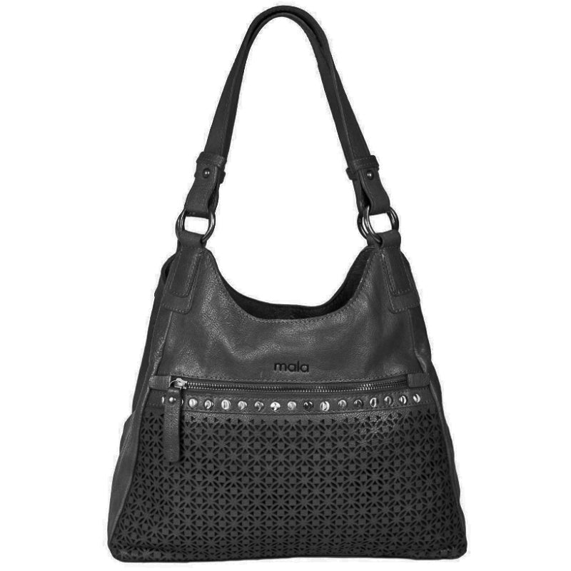 Mala Black Leather Shoulder Bag Work Bag