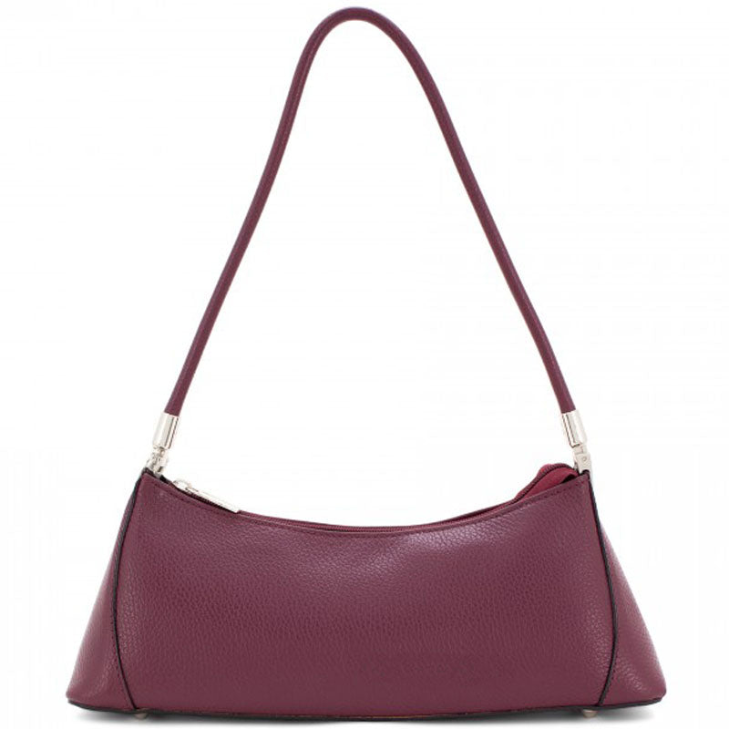 Your Bag Heaven Burgundy Leather Three Quarter Shoulder Bag