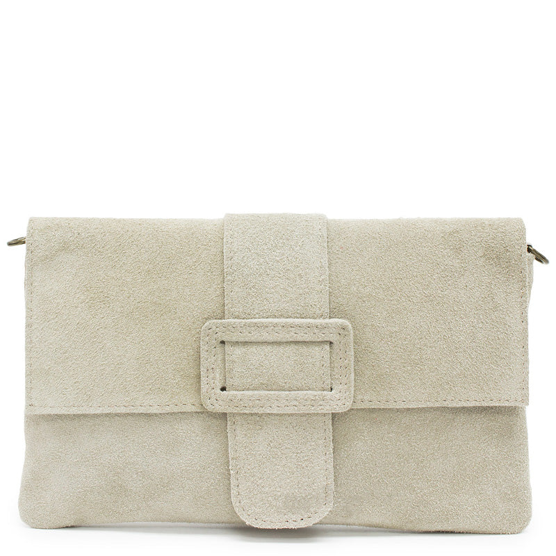 Your Bag Heaven Stone Suede Clutch Bag Cross Body Bag Shoulder Bag