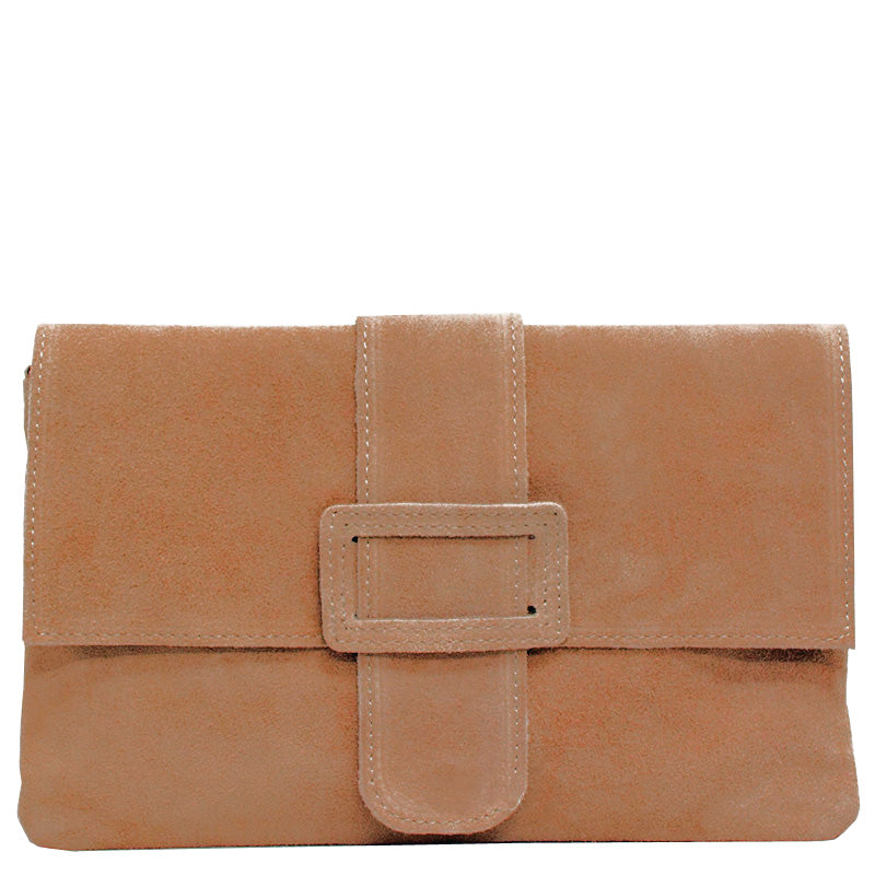 Your Bag Heaven Tan Suede Clutch Bag Cross Body Bag Shoulder Bag