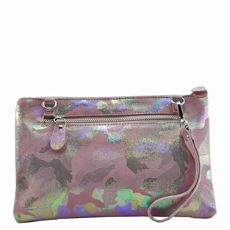 Malissa J Pink Soft Leather Clutch Bag Wrist Bag Crossbody Bag Shoulder Bag