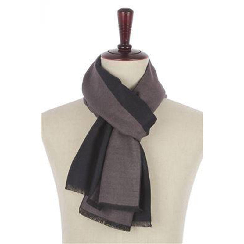 Click And Collect (Scarf Collection) Blue And Grey Plain Mens Scarf