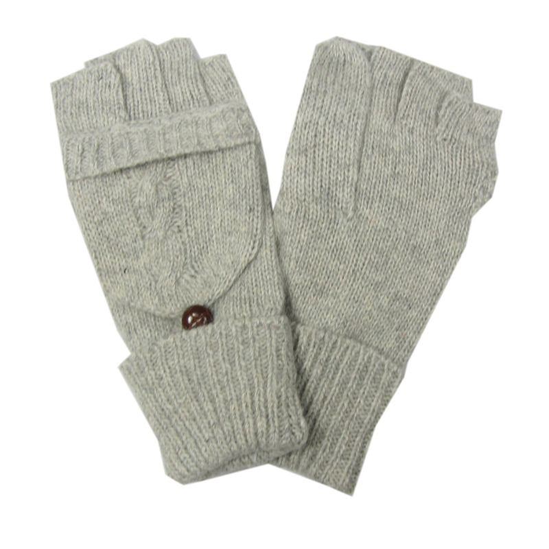 Click And Collect (Gloves Collection) Light Grey Ladies Mitten Gloves