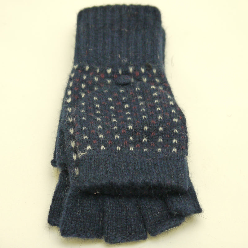 Click And Collect (Gloves Collection) Navy Blue Ladies Mitten Gloves