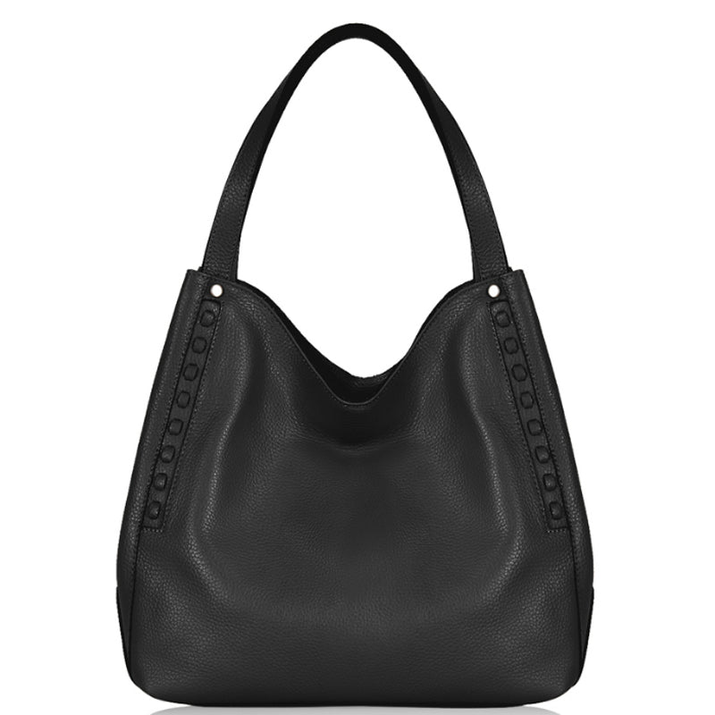Your Bag Heaven Black Leather Shoulder Hobo Bag