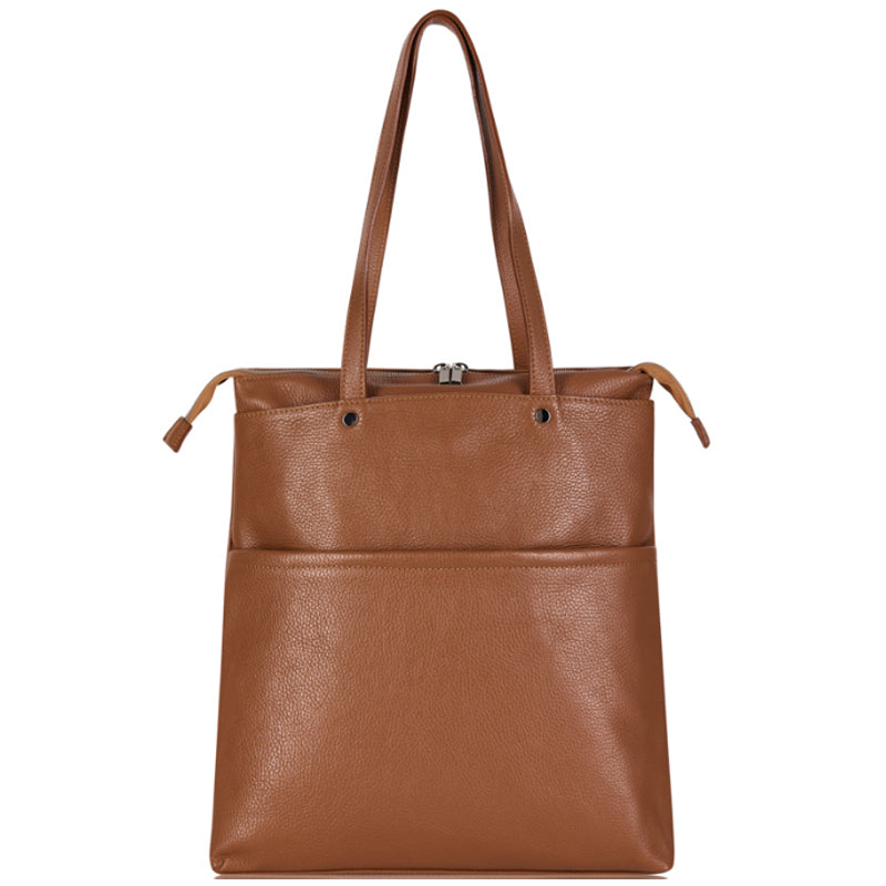Your Bag Heaven Tan Leather Shoulder Bag Shopper Tote Bag Work Bag